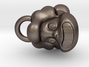 Steven Universe pendant in Polished Bronzed Silver Steel