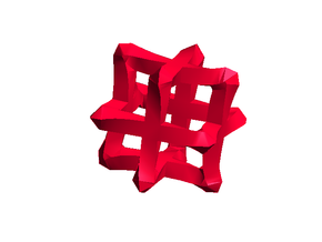 Mesh Cube - big in Red Strong & Flexible Polished