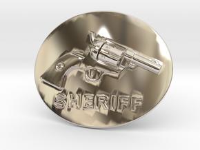 Colt Belt Buckle in Rhodium Plated Brass