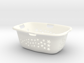Laundry Basket 1:6 in White Processed Versatile Plastic