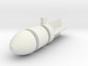 Dinky Toy - Bomb Stuka JU 87 n 721  in White Natural Versatile Plastic