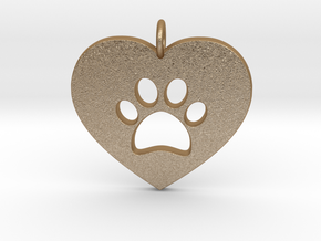 Pet Love in Matte Gold Steel