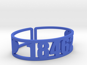 Island Lake Zip Cuff in Blue Processed Versatile Plastic