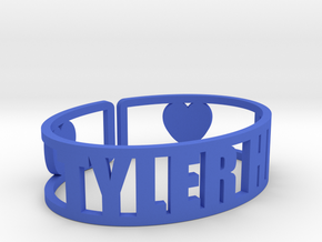 Tyler Hill Cuff in Blue Processed Versatile Plastic