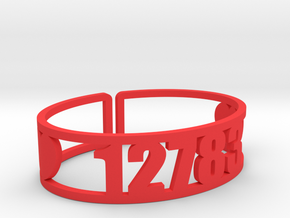 Silver Lake Zip Cuff in Red Processed Versatile Plastic