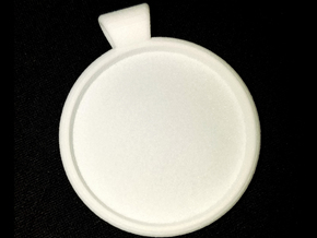 Pendant Backing in White Natural Versatile Plastic