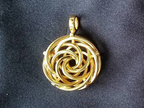 Vortex Pendant III (Precious Metal Release) in 14k Gold Plated Brass