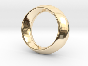 Opus Ring - Bracelet P=180mm in 14k Gold Plated Brass
