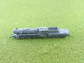 German BR 52 Steamloco w. K 2 2 T 30 Tender 1/285 in Smooth Fine Detail Plastic