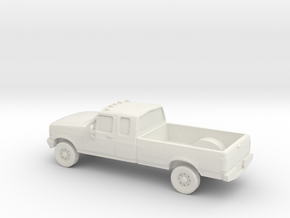 1/87 1996 Ford F Series Extendet Cab in White Natural Versatile Plastic
