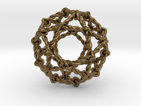 Twisted Penta Sphere in Natural Bronze