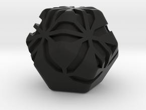 Stipes D12 (platonic dodecahedron version) in Black Natural Versatile Plastic