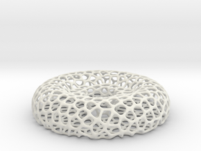 Tealight holder - Voronoi-Style #11 in White Natural Versatile Plastic