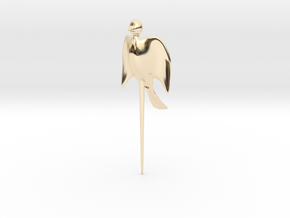 Bird shaped fork in 14k Gold Plated Brass