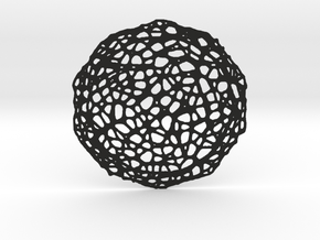 Coaster - Voronoi #7 (20 cm) in Black Strong & Flexible