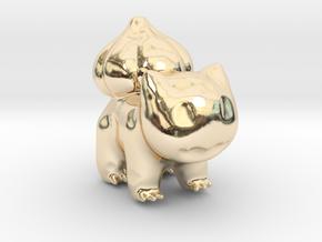 Bulbasaur in 14k Gold Plated Brass