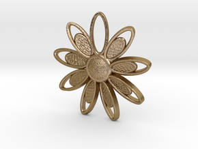 Spring Blossom 3 - Pendant in Polished Gold Steel