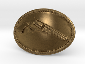 Colt Dragoon Belt Buckle in Natural Bronze