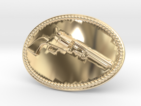 Colt Dragoon Belt Buckle in 14k Gold Plated Brass