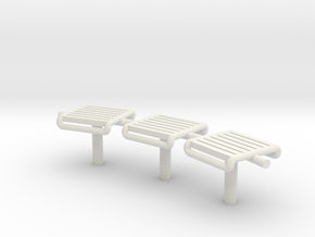 MOF Bench - 72:1 Scale in White Natural Versatile Plastic