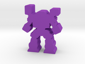 Game Piece, Heavy Artillery Mech in Purple Processed Versatile Plastic