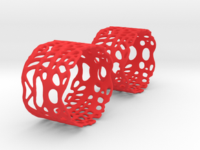 Sea fan Pair of Napkin rings in Red Processed Versatile Plastic