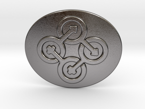 Circle Of Life Belt Buckle in Polished Nickel Steel