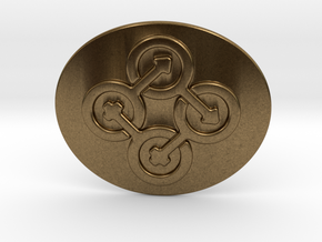 Circle Of Life Belt Buckle in Natural Bronze