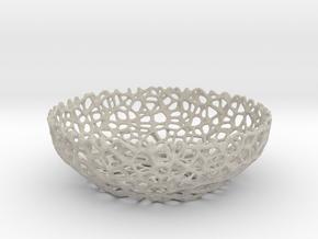 Voronoi bowl (20 cm) - Style #8 in Natural Sandstone
