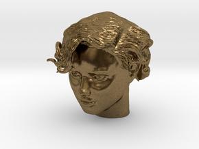 Adriana Lima Female Model Head Sculpt in Natural Bronze