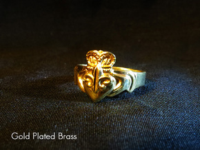 NOLA Claddagh, Ring Size 5 in White Natural Versatile Plastic