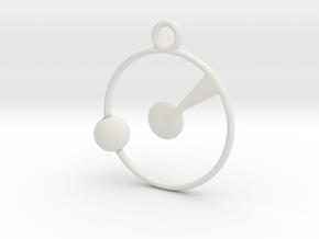 Orbit Pendant in White Natural Versatile Plastic
