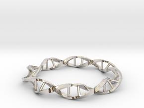 DNA Ring 23mm in Rhodium Plated Brass