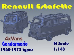 1-148 R-Estafette Gendarmerie SET in White Natural Versatile Plastic