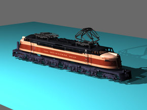 NScale EF4 Little Joe, Milwaukee Road Early with F in Smooth Fine Detail Plastic