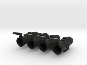 Optical Scope 1:6 Scale (4 Pack) in Black Natural Versatile Plastic
