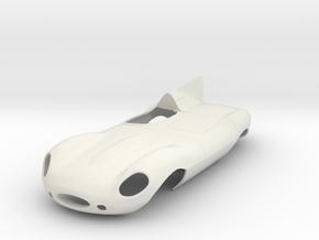 1/25 Jaguar Long Nose D Type in White Natural Versatile Plastic