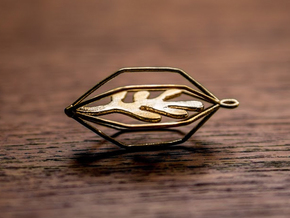 Seaweed Pendant in Polished Brass