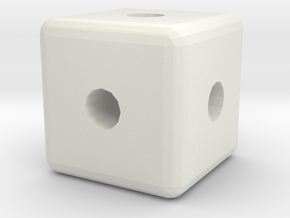 Cube 2 in White Natural Versatile Plastic