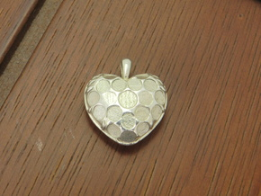 Custom Heart Pendant in Raw Silver