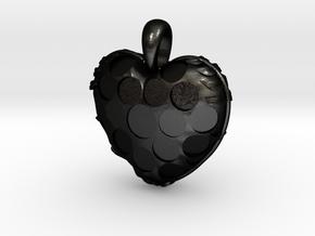 Custom Heart Pendant in Matte Black Steel