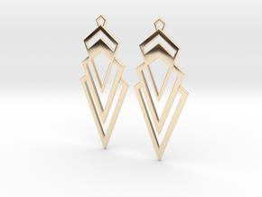 Art Deco Earrings - Valorous in 14k Gold Plated Brass