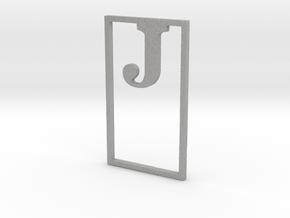 Bookmark Monogram. Initial / Letter  J  in Aluminum
