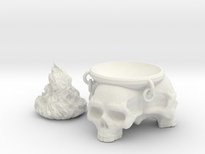 Brazier. Brazier with skulls and removable flames. in White Strong & Flexible