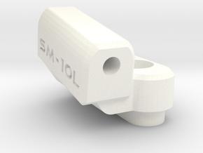 New School Reactive - 10 Degree Block - Left in White Processed Versatile Plastic