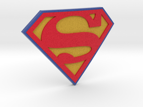 Superman Logo in Full Color Sandstone
