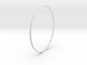 Ring World (upsized for Callamon 2) in White Natural Versatile Plastic