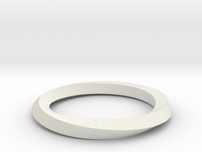 Mobius Band G in White Natural Versatile Plastic
