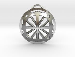 CrossStarMedalian in Raw Silver