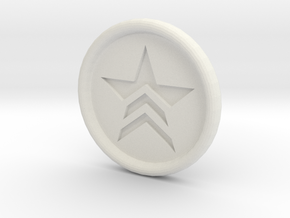 Mass Effect Renegade badge in White Natural Versatile Plastic